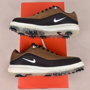 Nike Air Zoom Precision Golf Shoes Brown Leather
